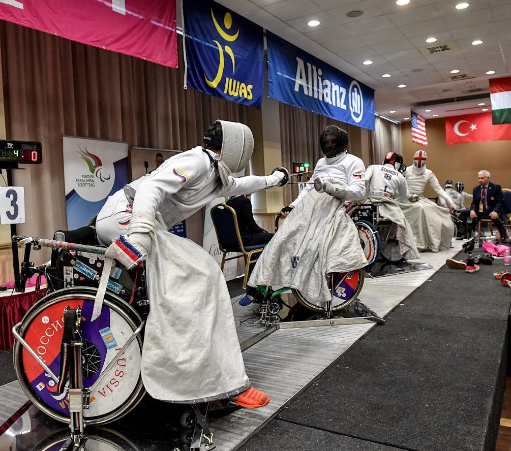 Wheelchair fencing Euros switches location